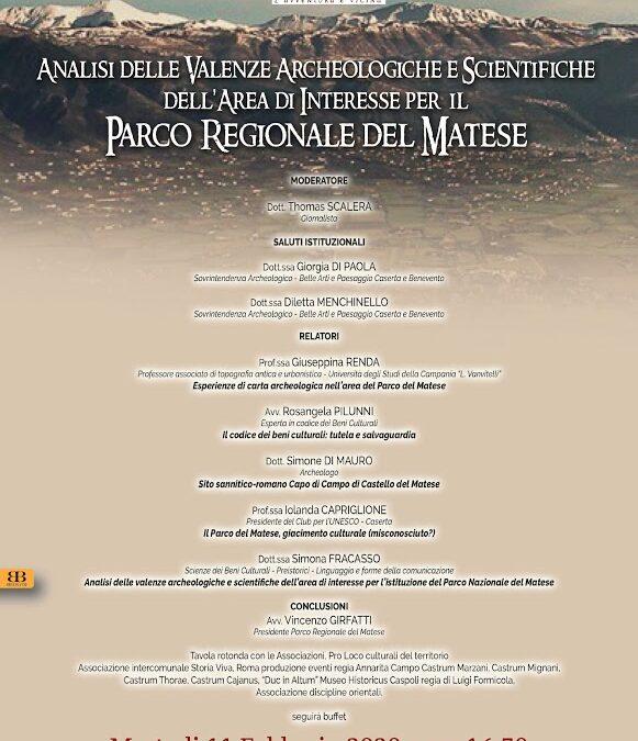 Analisi delle valenze archeologiche e scientifiche dell'area di interesse per il Parco Regionale del Matese